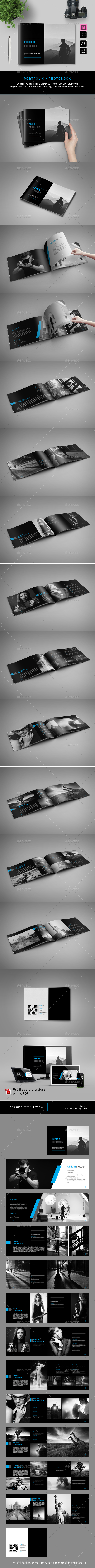 A5 Portfolio Photography Template - Photo Albums Print Templates