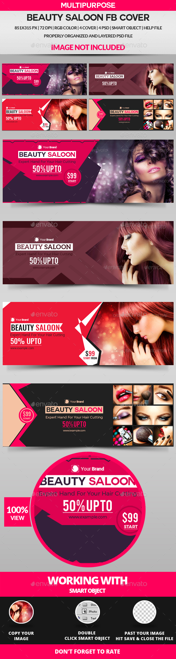 Beauty Saloon Facebook Cover - 4 Design - Facebook Timeline Covers Social Media