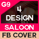 Beauty Saloon Facebook Cover - 4 Design