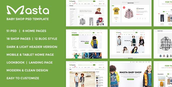 Masta – Baby Shop eCommerce PSD Responsive