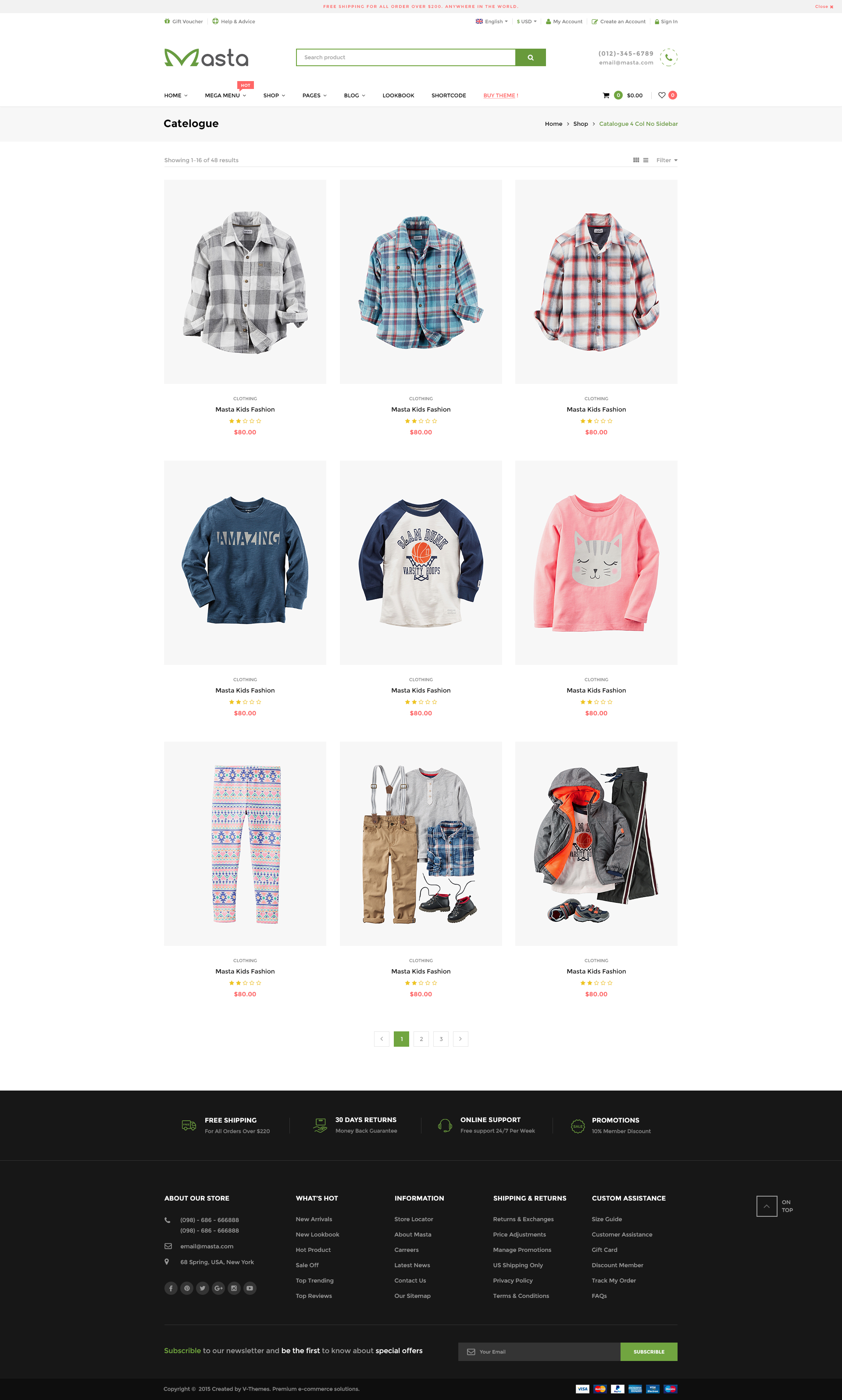 masta baby shop ecommerce psd responsive by crushthemes