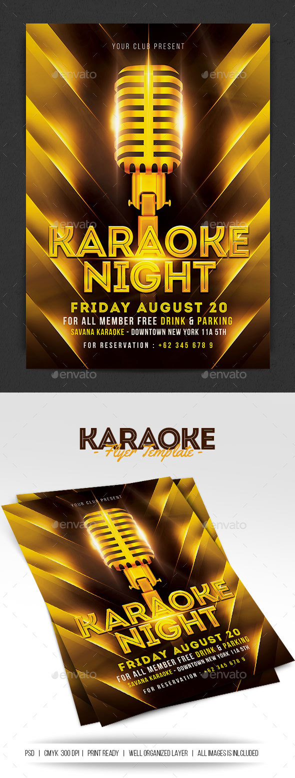 Karaoke Night - Flyers Print Templates