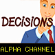 Young Man Writing the Word Decisions - VideoHive Item for Sale