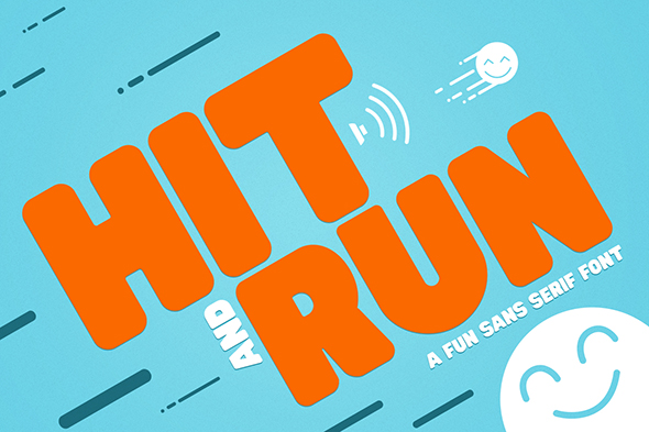 Hit and Run Font - Sans-Serif Fonts