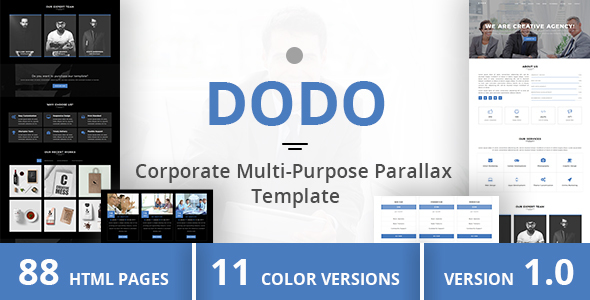 DODO - Corporate Multi-Purpose Parallax Template