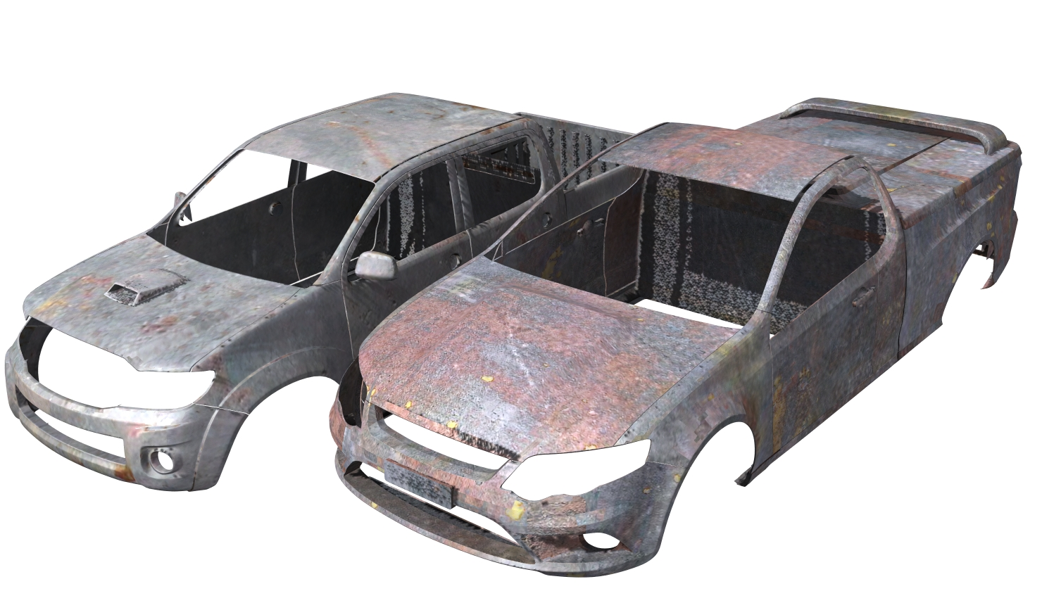 Hilux and Falcon Rusty Vehicle Body