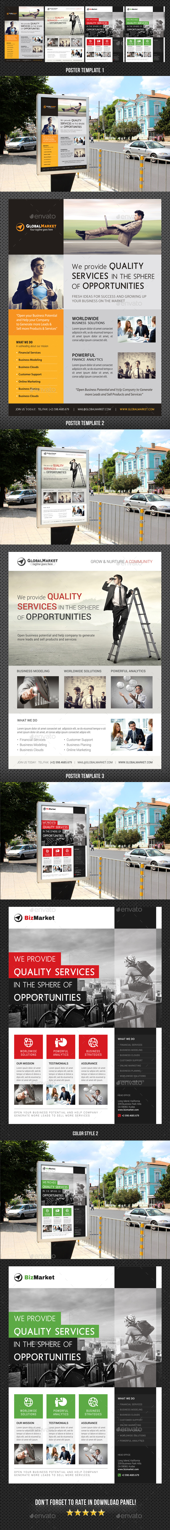 3 Corporate Business Poster Bundle 03 - Signage Print Templates