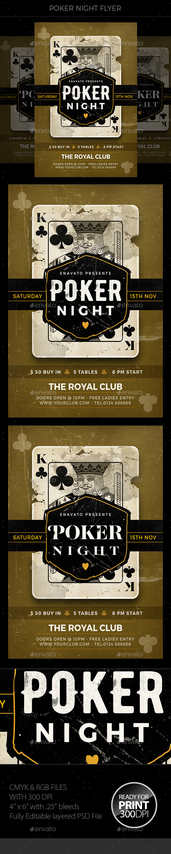 Poker Night Flyer - Events Flyers