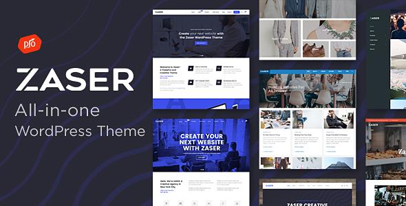 Zaser Pro | All-in-one WordPress Theme