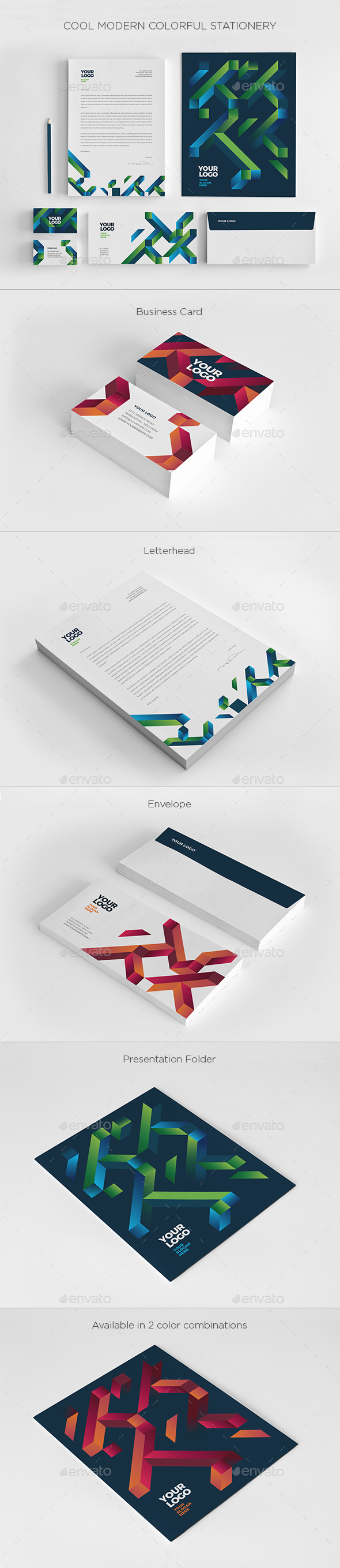 Cool Modern Colorful Stationery - Stationery Print Templates