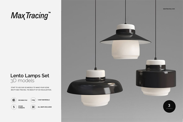 Lento Lamps Set - 3DOcean Item for Sale