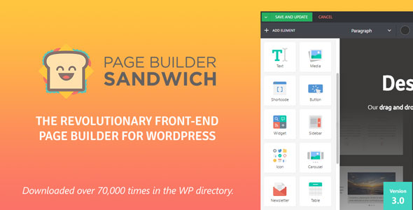 Page Builder Sandwich - CodeCanyon Item for Sale