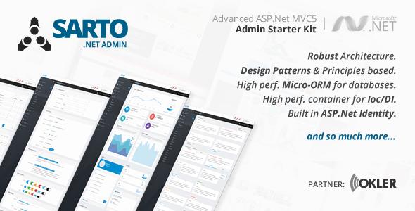 .Net Admin Starter Kit - CodeCanyon Item for Sale