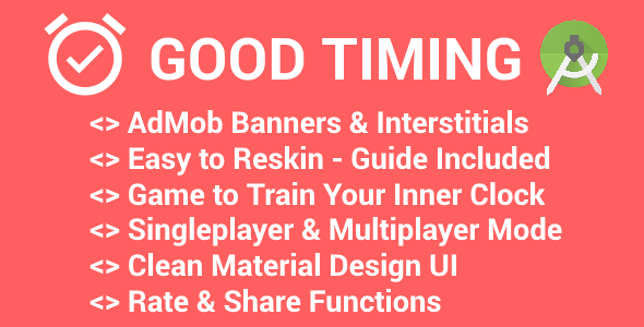 Good Timing - Game with AdMob (Banner & Interstitials) - CodeCanyon Item for Sale