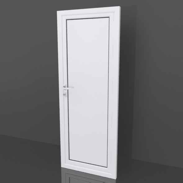 Aluminium door - 3DOcean Item for Sale