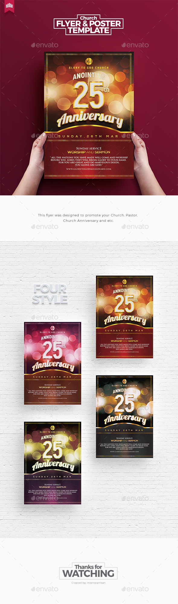 Church Anniversary - Flyer Template - Church Flyers