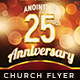Church Anniversary - Flyer Template - GraphicRiver Item for Sale