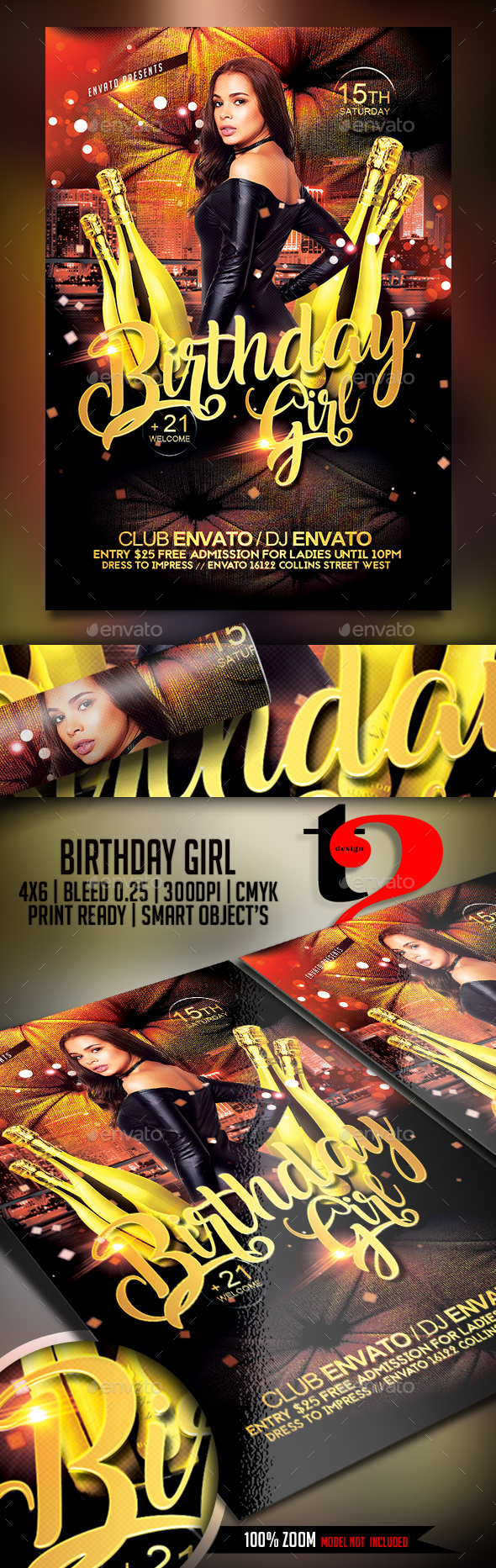 Birthday Girl Flyer Template - Clubs & Parties Events