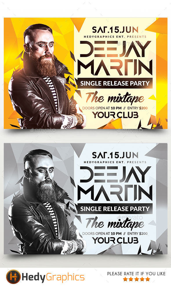 Artist Flyer - Clubs & Parties Events