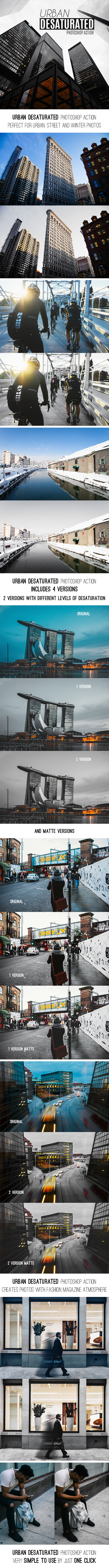 Urban Desaturated Photoshop Action - Photo Effects Actions