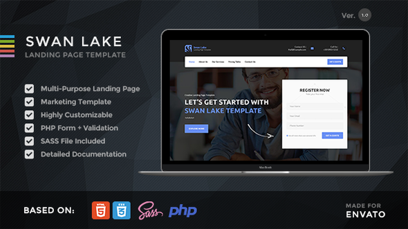 Swan Lake – Lead Generation Marketing Landing Page