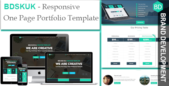 BDSKUK- Responsive One Page Portfolio Template