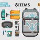 Freeride Snowboard Gear Set - GraphicRiver Item for Sale