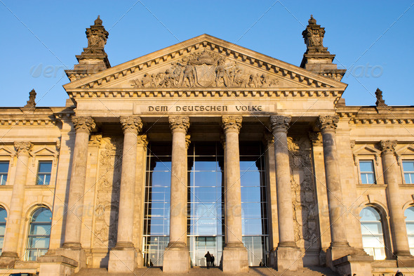 Entrance to the Reichstag - Stock Photo - Images