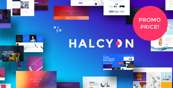 Halcyon – Multipurpose Modern Website HTML5 & CSS3 Template