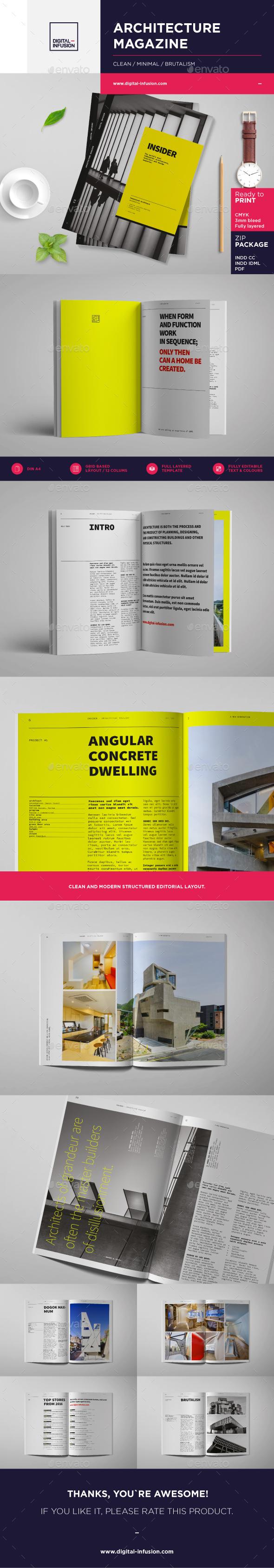 INSIDER - Architecture Magazine - Magazines Print Templates