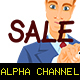 Young Man Writing the Word Sale - VideoHive Item for Sale