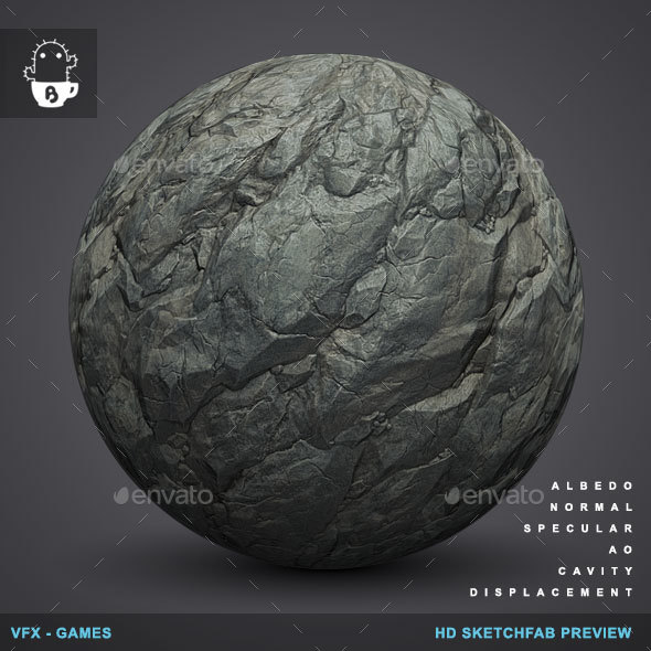 RockyBall 01 - Rock Stone Texture - 3DOcean Item for Sale