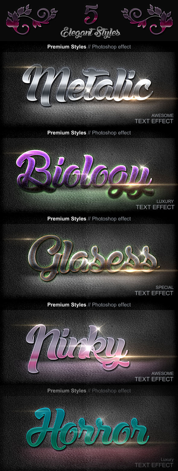 Luxury Text Styles V16C - Styles Photoshop