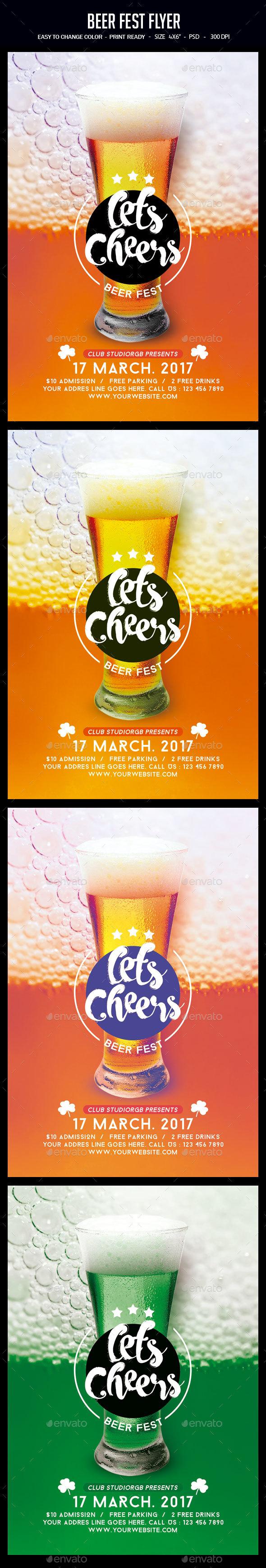 Beer Fest Flyer - Clubs & Parties Events