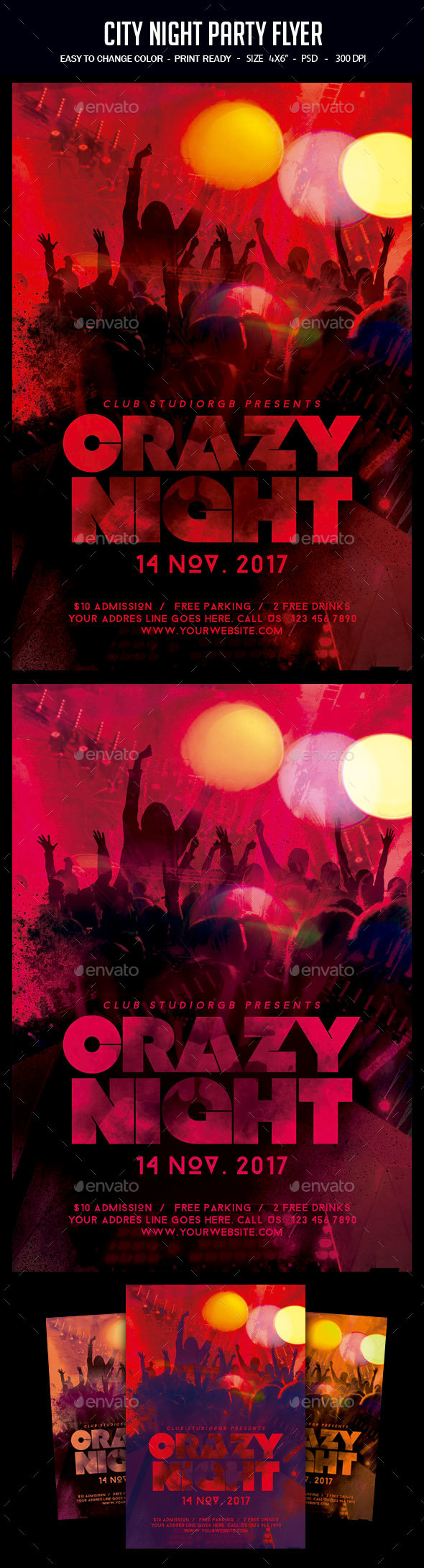 Night Party Flyer - Clubs & Parties Events