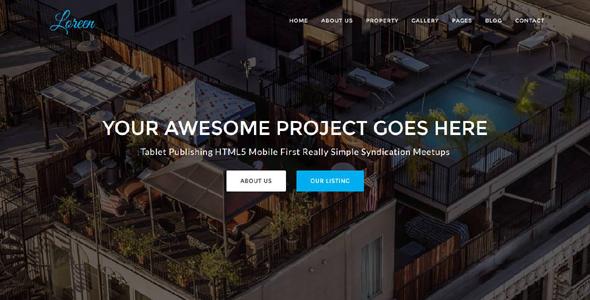 Loreen – Real Estate HTML Template