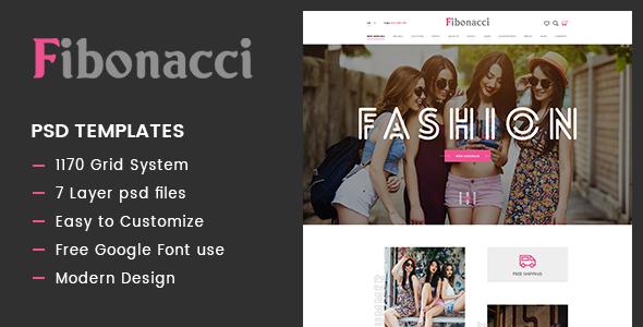 Fibonacci – Elegant Fashion PSD Template