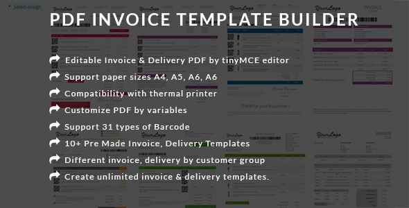 Print Receipt Form Pdf Invoice Template Builder  Edit Invoice  Delivery Template  Bond Invoice Price with Receipts For Taxes Word Pdf Invoice Template Builder  Edit Invoice  Delivery Template Prestashop  Module  Codecanyon Item For Selling Invoices
