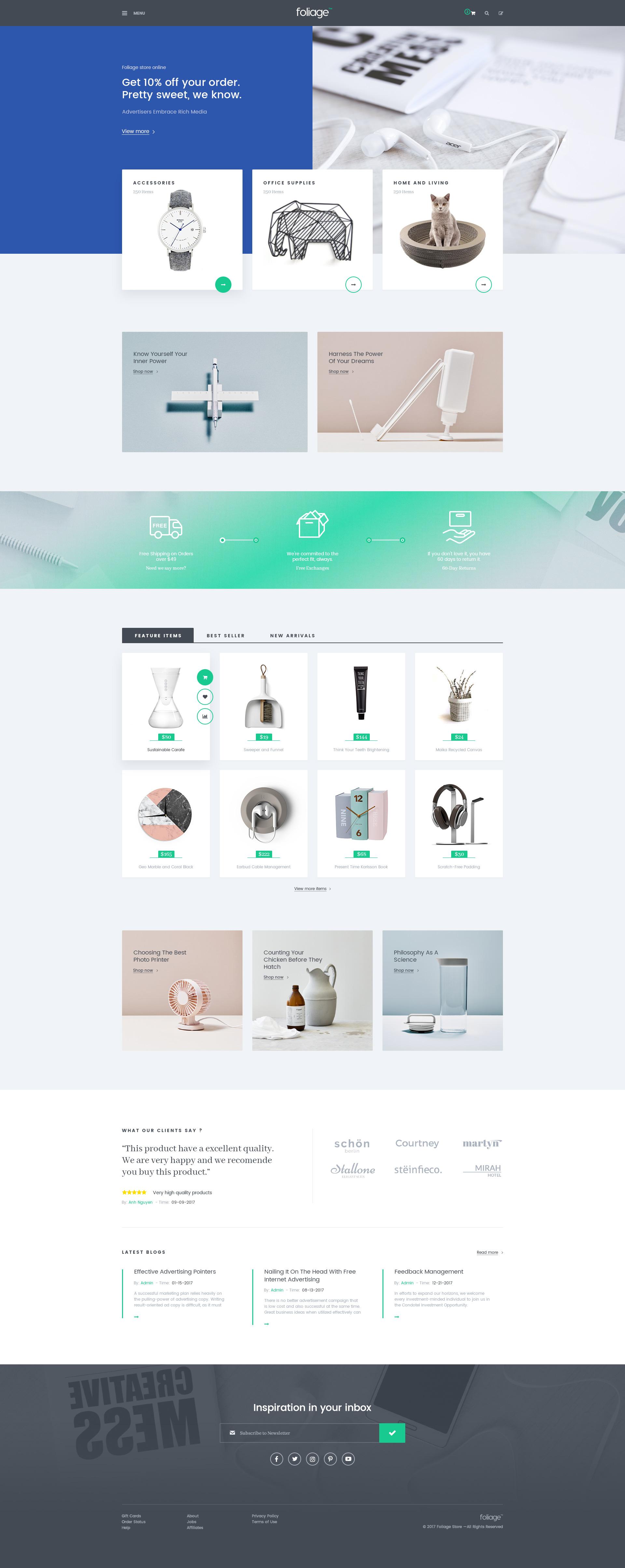 Foliage Multipurpose Woo merce WordPress Theme by themelexus
