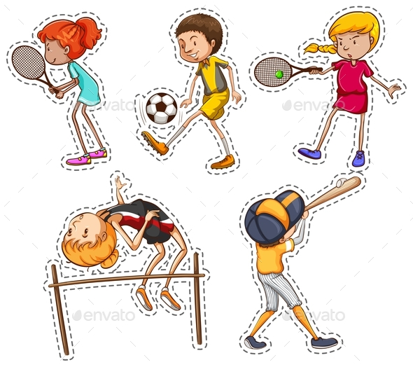 People Doing Different Kinds of Sports - People Characters