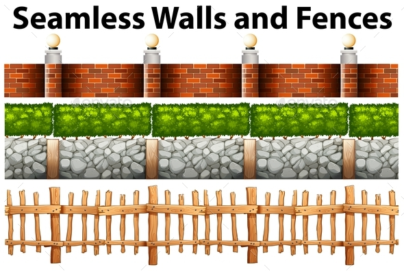 Seamless Walls and Fences in Many Designs - Miscellaneous Conceptual
