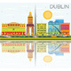 Dublin Skyline with Color Buildings, Blue Sky and Reflections. - GraphicRiver Item for Sale