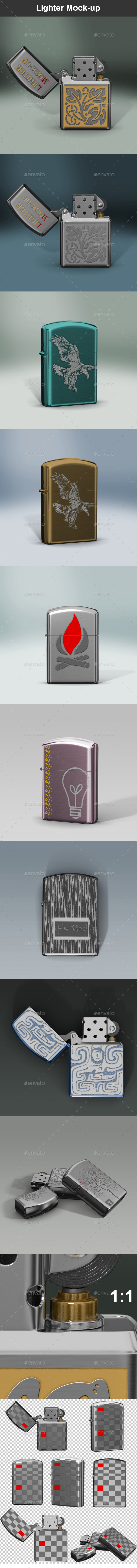 Lighter Mock-up - Miscellaneous Product Mock-Ups