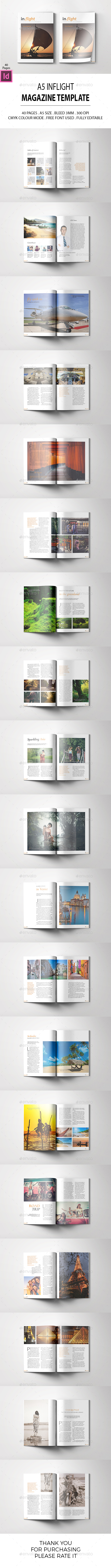 A5 Inflight Magazine Template - Magazines Print Templates