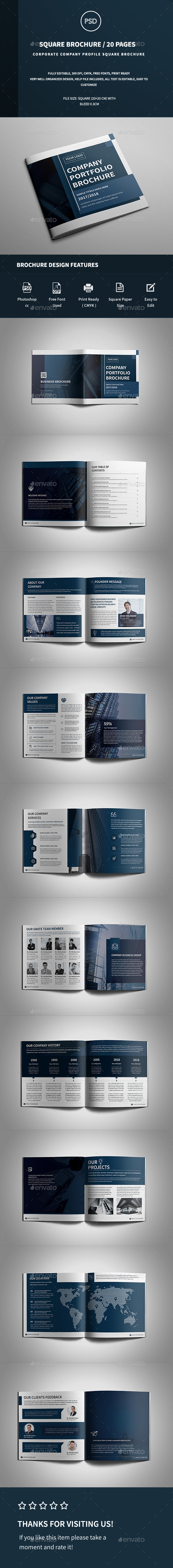 Square Company Profile Brochure - Corporate Brochures