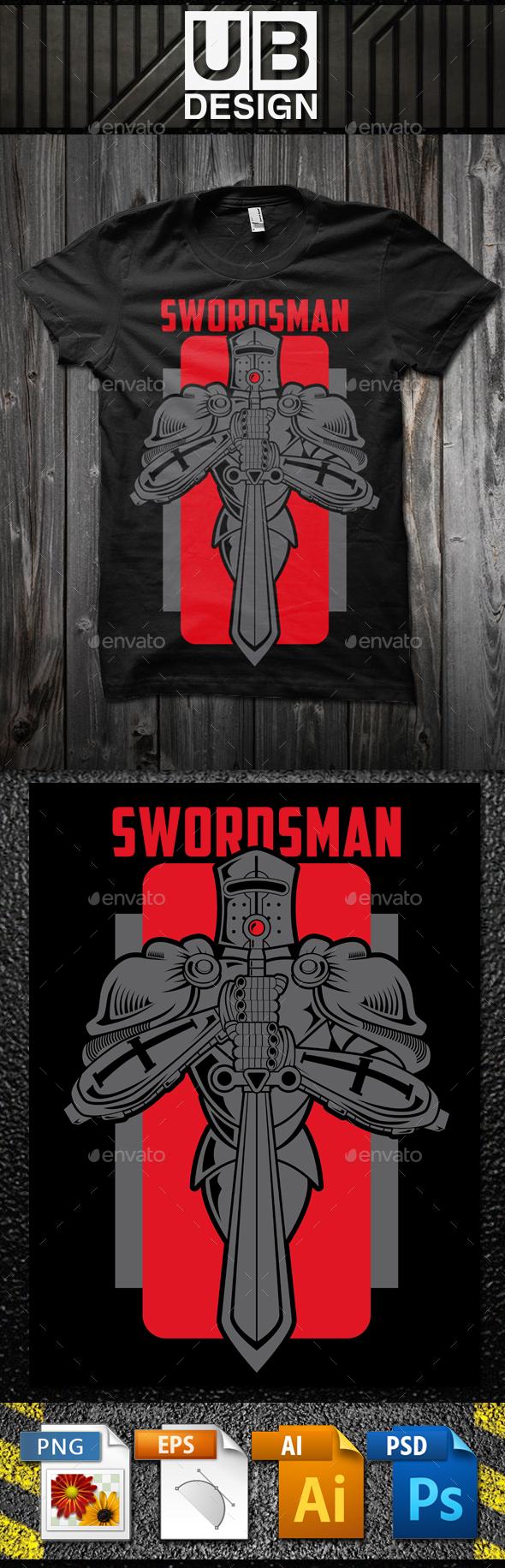 Swordsman T-shirt Template - Designs T-Shirts