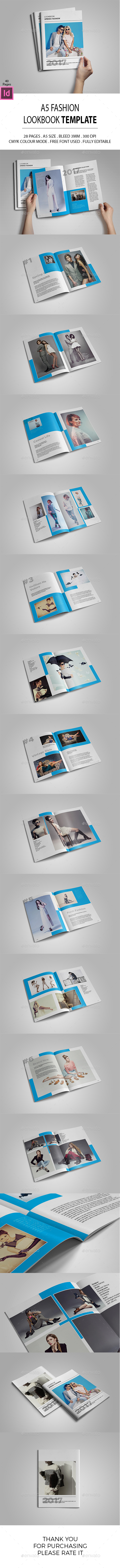 A5 Lookbook Template - Catalogs Brochures