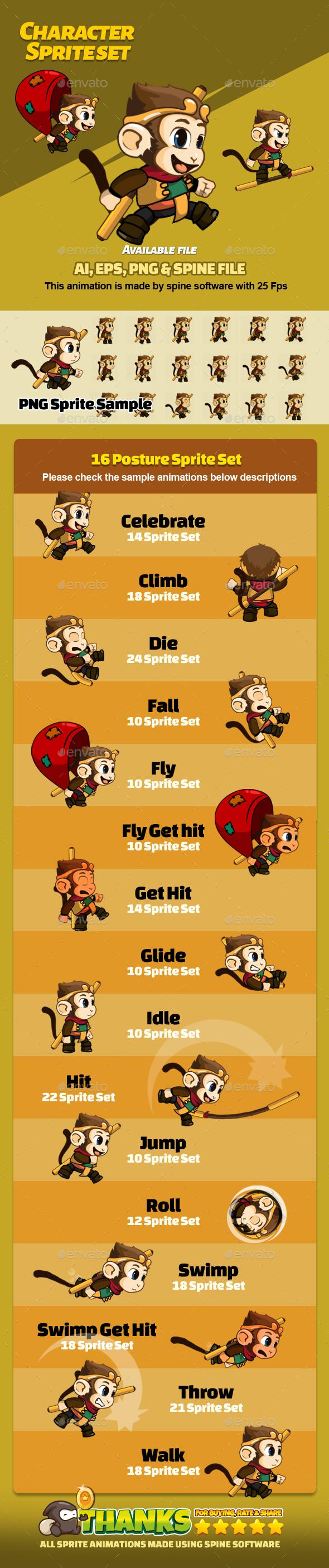 Character Set V12 - Sprites Game Assets
