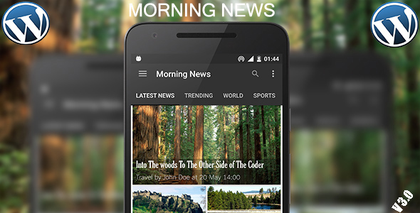 Morning News 2.0 (Wordpress Android App) - Admob - CodeCanyon Item for Sale
