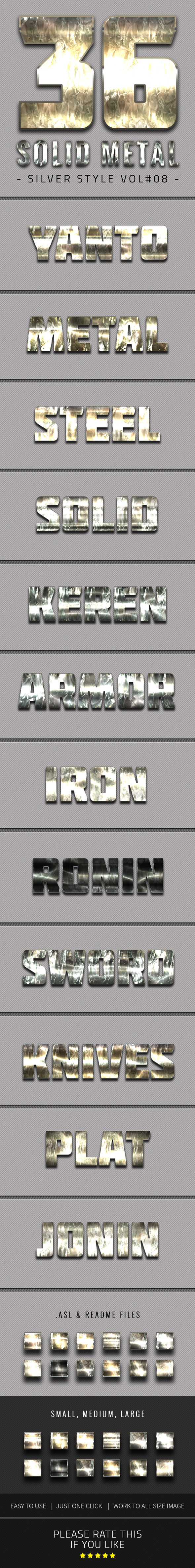 36 Solid Metal Text Effect V08 - Text Effects Styles
